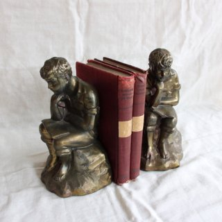 vintage brass bookends /ビンテージ 真鍮 ブックエンド(202A1)