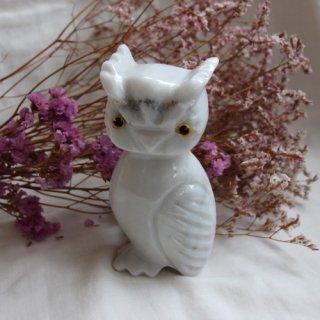vintage stone owl object/ビンテージ 石製 フクロウ オブジェ(466A2)