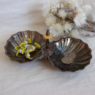 vintage shell silver tray/ビンテージ シェル モチーフ シルバートレー(535A3)