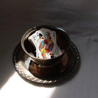 vintage bowl&tray/ビンテージ シルバー ボウル&トレー(639A3)