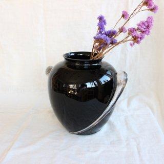 Vintage glass flower vase/ビンテージ ガラス フラワーベース/花器/花瓶(229A1)