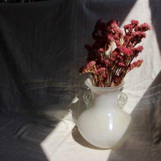 Vintage glass flower vase/ビンテージ ガラス フラワーベース/花器/花瓶(701)