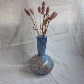 Vintage marble glass flower vase/ビンテージ マーブル ガラス 花瓶(703)