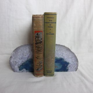 Natural stone bookends /天然石ブックエンドセット(709)