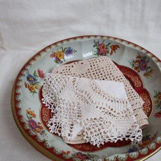 vintage made in ENGLAND flower tray/ビンテージ イングランド製 花柄 トレー(735)