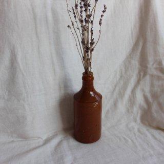 Vintage ceramic bottle/ビンテージ セラミック 陶器 ボトル/フラワーベース /一輪挿し(737)