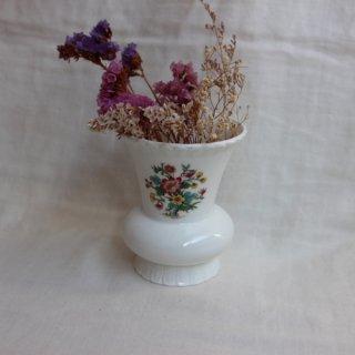 Vintage ENGLAND製 ceramic flower vase/ビンテージ陶器フラワーベース/花瓶(745)