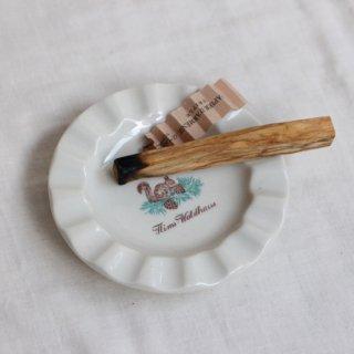 vintage flims waldhaus parkhotel ash tray/ビンテージ 陶器 アッシュトレー/灰皿(762)
