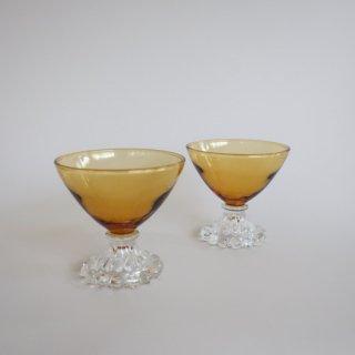 vintage Anchor Hocking Boopie glass/ビンテージ アンカーホッキング ブーピー グラス/シャーベットグラス/シャンパングラス(769)