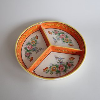 vintage NORITAKE made in japan plate/ビンテージ ノリタケ 花柄×オレンジ プレート/皿(779)