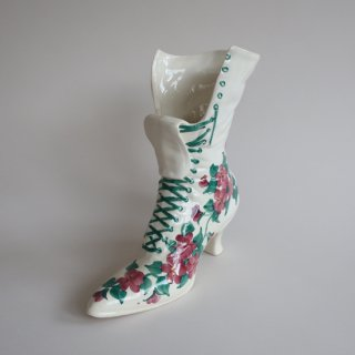 Vintage ceramic flower vase boots motif/ビンテージ 陶器 ブーツモチーフ フラワーベース/花瓶(803)