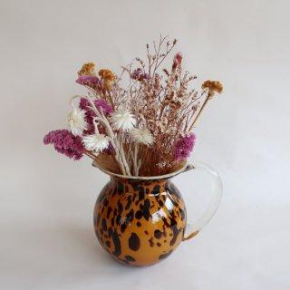 Vintage glass flower vase/ビンテージ ガラス マーブル ピッチャー フラワーベース/花瓶(805)
