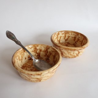 vintage USA Sponge wear ceramic bowl/ビンテージ 陶器 ボウル(831A)