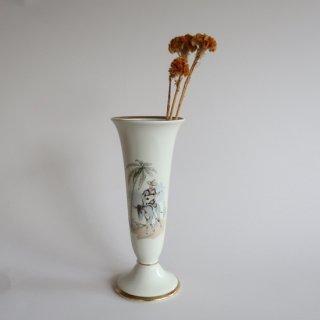 Vintage Bavaria Mid Century Modern ceramic flower vase/ビンテージ Alka Kunst社製 陶器 フラワーベース/花器/花瓶(855)