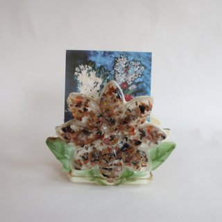 vintage lucite napkin holder flower/ビンテージ ルーサイト製 紙ナプキン ホルダー(860)