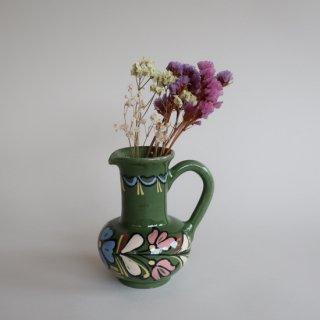 Vintage ceramic flower vase/ビンテージ 陶器 フラワーベース /花器/花瓶(864)