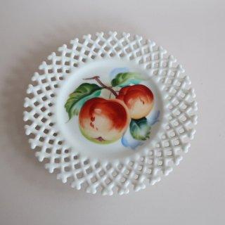 vintage ceramic plate apple/ビンテージ  Lefton社プレート/皿/アップル(871)