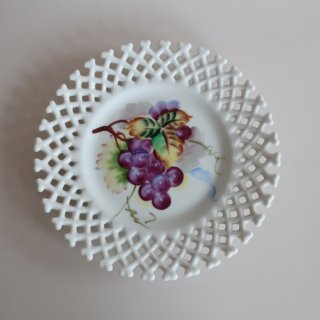 vintage ceramic plate grape/ビンテージ  Lefton社プレート/皿/グレープ(872)