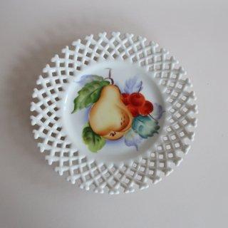 vintage ceramic plate pear/ビンテージ  Lefton社プレート/皿/梨(873)