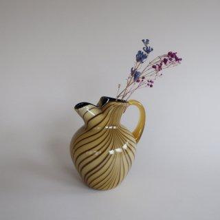 Vintage Fenton marble glass flower vase/ビンテージ フェントン社 マーブルガラス フラワーベース/花器/花瓶(881)