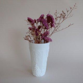 Vintage milk glass flower vase/ビンテージ ミルクガラス フラワーベース/花瓶/タンブラー(886)