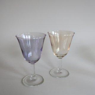 Vintage Purple&Yellow Glass Pair Set/ビンテージ パープル&イエロー グラス ペアセット(890)