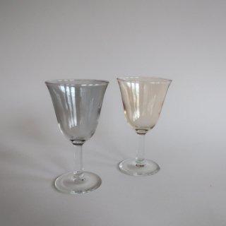 Vintage Smoke&Yellow Glass Pair Set/ビンテージ スモーク&イエロー グラス ペアセット(891)