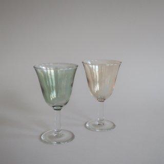 Vintage Green&Yellow Glass Pair Set/ビンテージ グリーン&イエロー グラス ペアセット(892)
