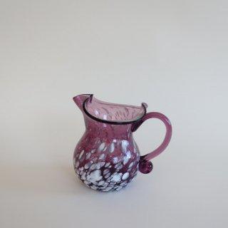 Vintage purple marble glass flower vase/ビンテージ パープル マーブル ガラス フラワーベース /花器/花瓶(902)