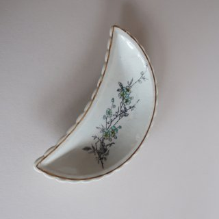 vintage oriental crescent shape small plate/ビンテージ  オリエンタル 三日月形 プレート/小皿(907)