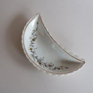 vintage oriental crescent shape small plate/ビンテージ  オリエンタル 三日月形 プレート/小皿(908)