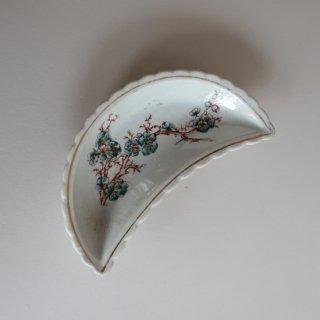 vintage oriental crescent shape small plate/ビンテージ  オリエンタル 三日月形 プレート/小皿(909)