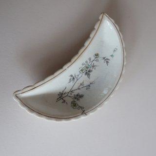 vintage oriental crescent shape small plate/ビンテージ  オリエンタル 三日月形 プレート/小皿(910)