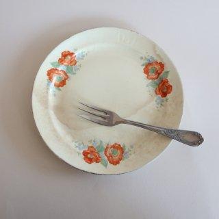 Vintage 1930s The Great American Tea Co. plate/ビンテージ 陶器 プレート/Orange poppy(918)
