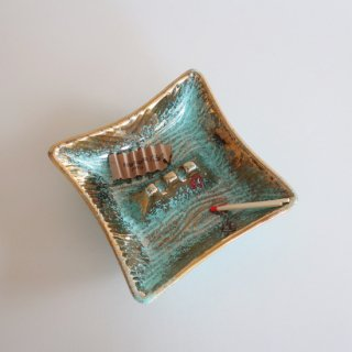 vintage 50's USA ash tray/ビンテージ 陶器 アッシュトレー/灰皿(922)