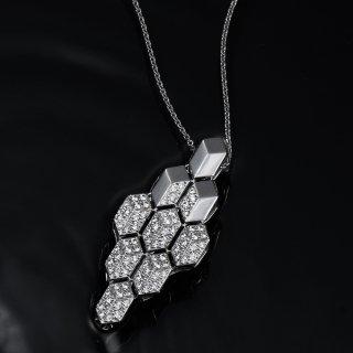 K18WG ダイヤ ネックレス