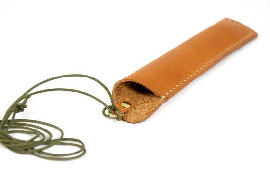 やわらか革のペンケースとペンホルダーのセット(楓舎)の写真