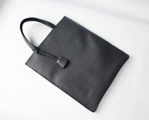 スリムA4トートbag(L)☆彡ブラック・お色違いも対応可能です・受注制作