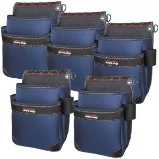 【送料無料】 AstroShip 腰袋スタンダード2段 まとめ買い5個セット / AS-15 アストロシップ(袋の底をもれなくプレゼント)