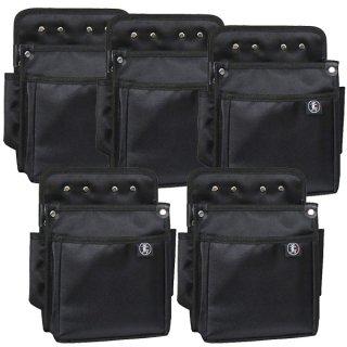 【送料無料】腰袋2段 電工用(特大) 【まとめ買い5個セット】 / 3B 鳶