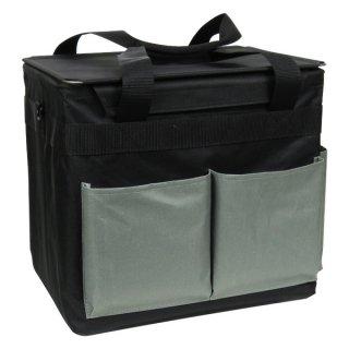 道具運びに便利な 組み立て式 なんでもバケット ブラック(フタ付き) / ASN-1PB