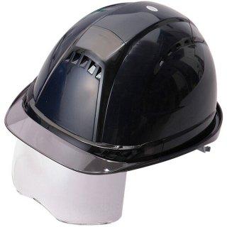 トーヨー ヘルメット シールド付 紺(ひさしスモーク) No391F-S-C トーヨーセーフティ