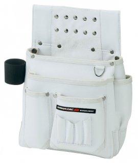 釘袋 カワテック2 仮枠釘袋工具差付 大 ホワイト KE-804W プロスター