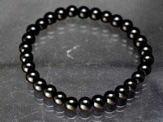 モリオン ブレスレット 【黒水晶】【6mm×30珠】