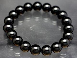 モリオン ブレスレット 【黒水晶】【10mm×19珠】