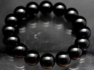 モリオン ブレスレット 【黒水晶】【12mm×16珠】