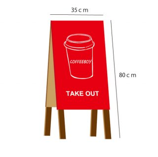 80cm×35cm A型 Shop看板 カフェ看板 全9色