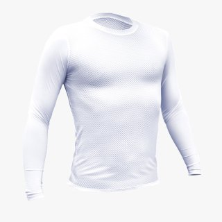 GORIX ゴリックス 自転車メッシュインナーウェア UVカット夏用涼感フィット長袖Tシャツ ホワイト 日焼け対策 清涼感(GW-TS1)
