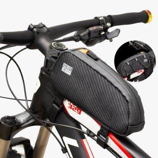 GORIX ゴリックス トップチューブバッグ 防水 自転車 (GX-BT39) フレームバッグ・ロードバイク・スマホ収納 自転車バッグ (ヒモ彼氏の仕事)