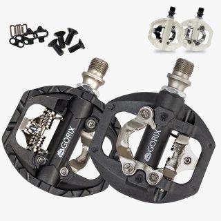GORIX ゴリックス 自転車ペダル 片面フラット GX-PM811 ビンディングペダル